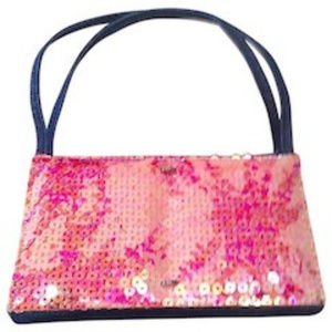 Rare Vintage Chanel Sequinned Denim Handbag